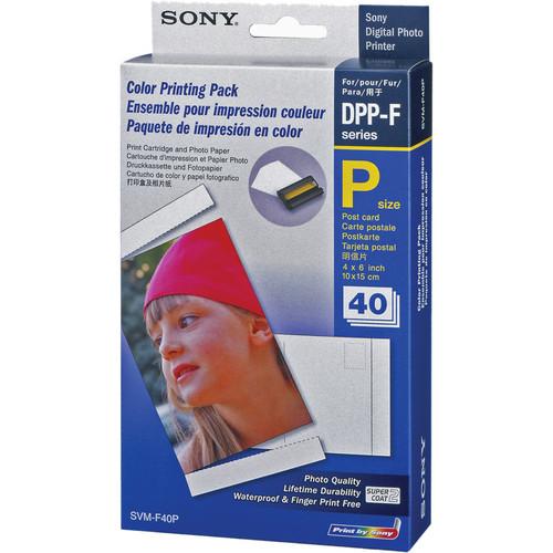 "Sony SVM-F40P/2 4 x 6"" Paper with Print Ribbon (1 Ribbon/40 Sheets)"