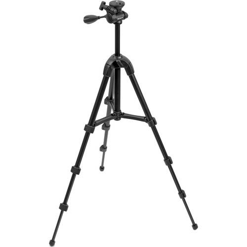 Sony VCT-R100 4-Section Lightweight Tripod with 3-Way Head