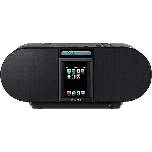 Sony ZS-S4iPBLACK CD Boombox for iPod and iPhone