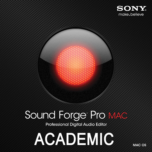 Sony Sound Forge Pro Mac - Digital Audio Editing Software (Educational Discount)