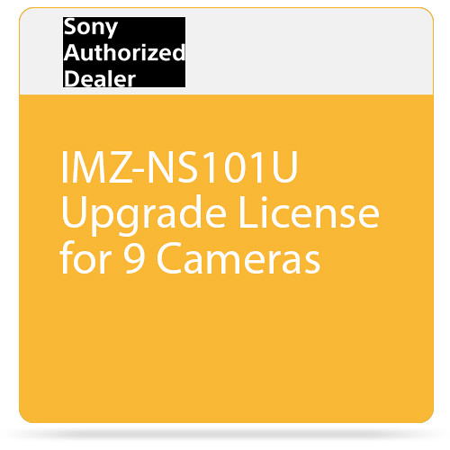 Sony IMZ-NS101U Upgrade License for 9 Cameras