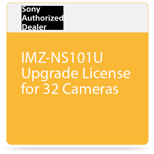 Sony IMZ-NS101U Upgrade License for 32 Cameras
