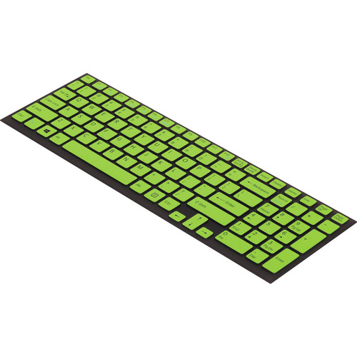 "Sony Keyboard Skin for Sony VAIO 15"" & 17"" E Series (Black/Green)"