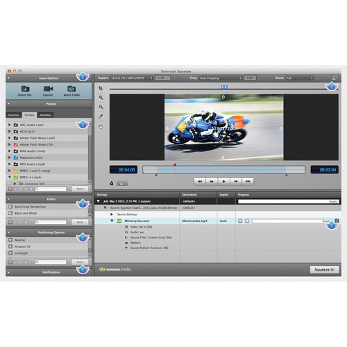 Sorenson Media Squeeze 8.5 Video Encoder