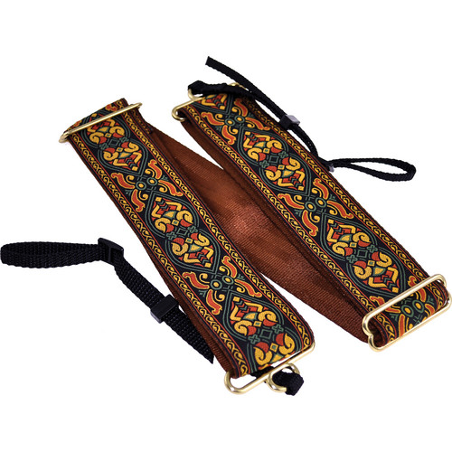 "Souldier Braveheart 2"" Camera Strap (Brown with Nutmeg and Forest Green Accents)"