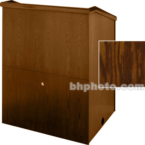 "Sound-Craft Systems Presenter 36"" Veneer Lectern (Dark Oak)"
