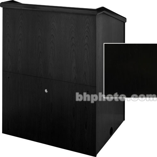 "Sound-Craft Systems Presenter 48"" Veneer Lectern (Black Painted)"