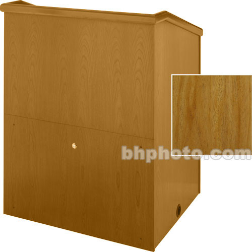 "Sound-Craft Systems Presenter 48"" Veneer Lectern (Natural Mahogany)"