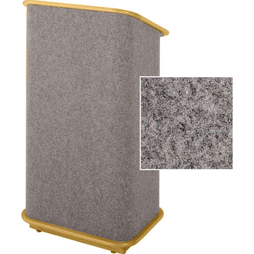 Sound-Craft Systems CFL Floor Lectern (Gunmetal/Natural Oak)