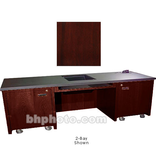 Sound-Craft Systems 1-Bay Custom Presentation Desk (Dark Mahogany)