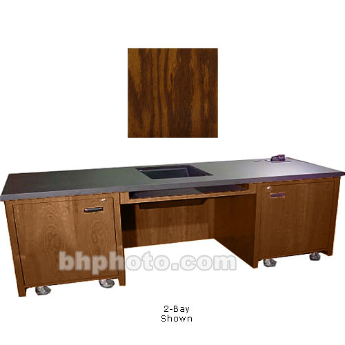 Sound-Craft Systems 1-Bay Custom Presentation Desk (Dark Oak)