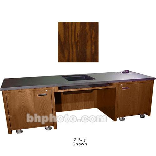 Sound-Craft Systems 1-Bay Custom Presentation Desk (Dark Oak)