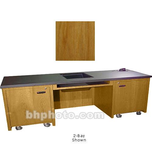 Sound-Craft Systems 1-Bay Custom Presentation Desk (Natural Mahogany)