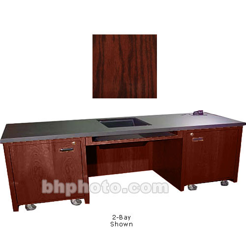 Sound-Craft Systems 1-Bay Custom Presentation Desk (Dark Cherry Oak)