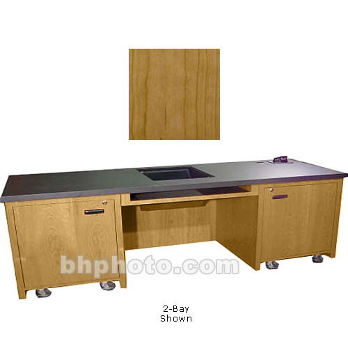 Sound-Craft Systems 1-Bay Custom Presentation Desk (Natural Cherry)