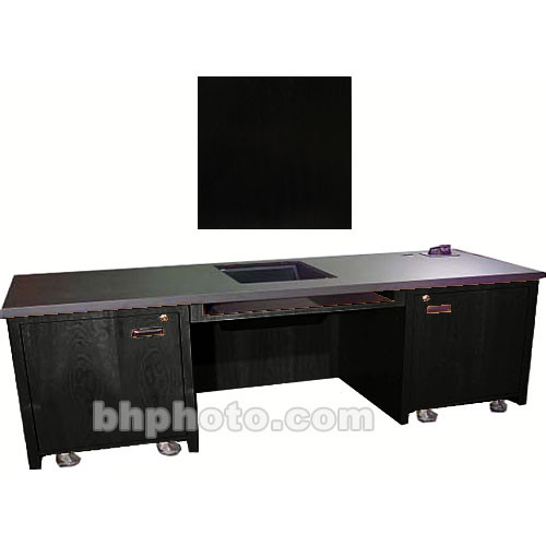 Sound-Craft Systems 2-Bay Custom Presentation Desk (Black Oak)