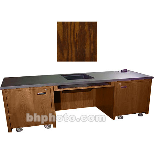 Sound-Craft Systems 2-Bay Custom Presentation Desk (Dark Oak)