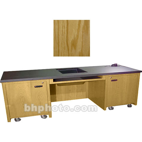 Sound-Craft Systems 2-Bay Custom Presentation Desk (Natural Oak)