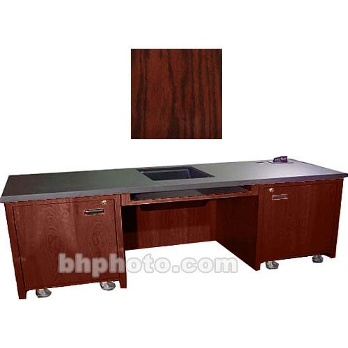 Sound-Craft Systems 2-Bay Custom Presentation Desk (Dark Cherry Oak)