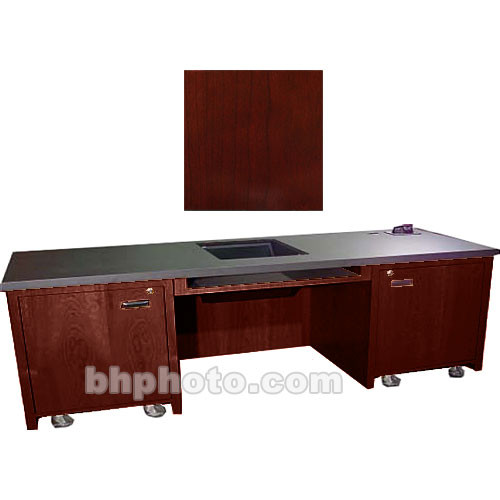 Sound-Craft Systems 2-Bay Custom Presentation Desk (Dark Cherry)