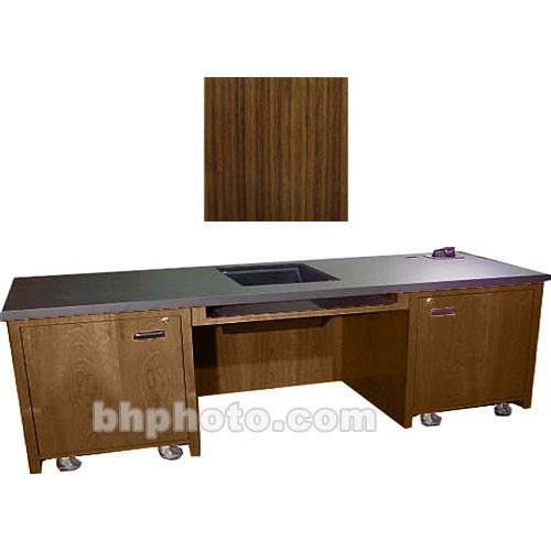 Sound-Craft Systems 2-Bay Custom Presentation Desk (Walnut)