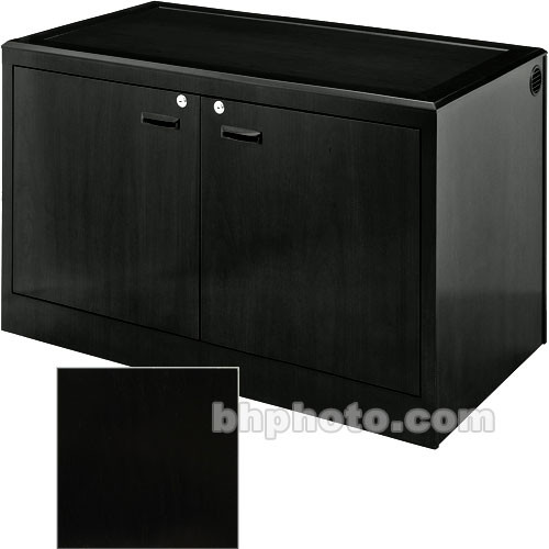 Sound-Craft Systems 2-Bay Equipment Credenza - Veneer/Black Oak