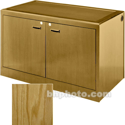 Sound-Craft Systems 2-Bay Equipment Credenza - Veneer/Natural Oak