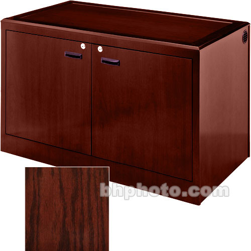 Sound-Craft Systems 2-Bay Equipment Credenza - Veneer/Dark Cherry Oak