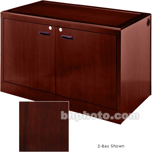 Sound-Craft Systems 3-Bay Equipment Credenza - Veneer/Dark Mahogany