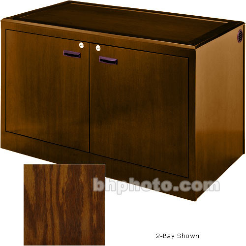 Sound-Craft Systems 3-Bay Equipment Credenza - Veneer/Dark Oak