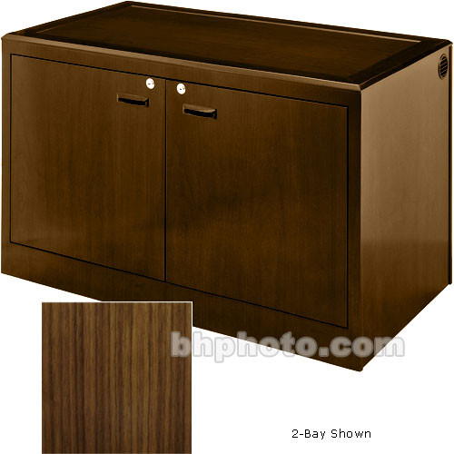 Sound-Craft Systems 3-Bay Equipment Credenza - Veneer/Walnut