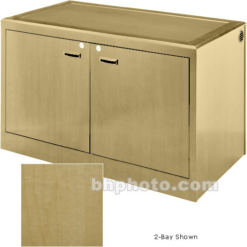 Sound-Craft Systems 3-Bay Equipment Credenza - Veneer/Natural Maple