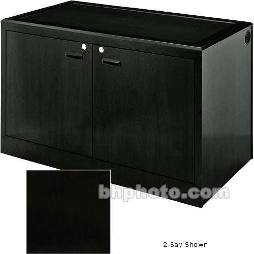 Sound-Craft Systems 4-Bay Equipment Credenza - Veneer/Black Oak