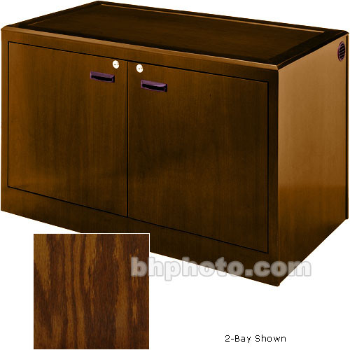 Sound-Craft Systems 4-Bay Equipment Credenza - Veneer/Dark Oak