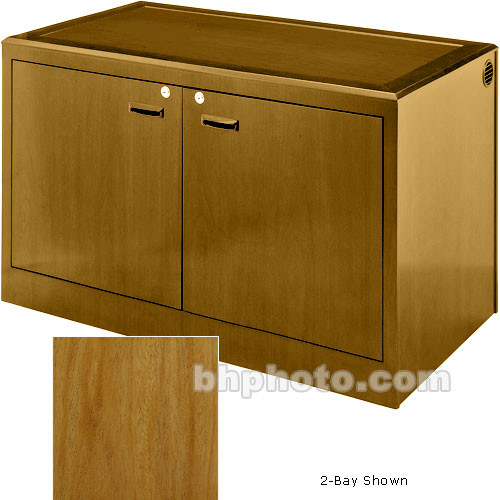 Sound-Craft Systems 4-Bay Equipment Credenza - Veneer/Natural Mahogany