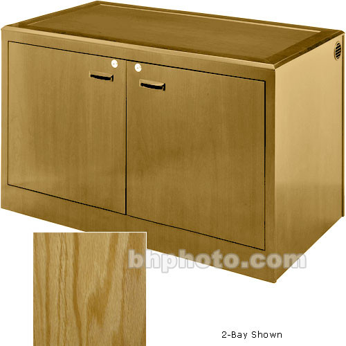 Sound-Craft Systems 4-Bay Equipment Credenza - Veneer/Natural Oak