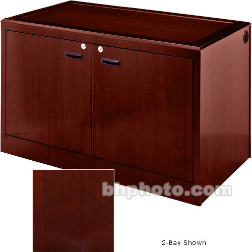 Sound-Craft Systems 4-Bay Equipment Credenza - Veneer/Dark Cherry