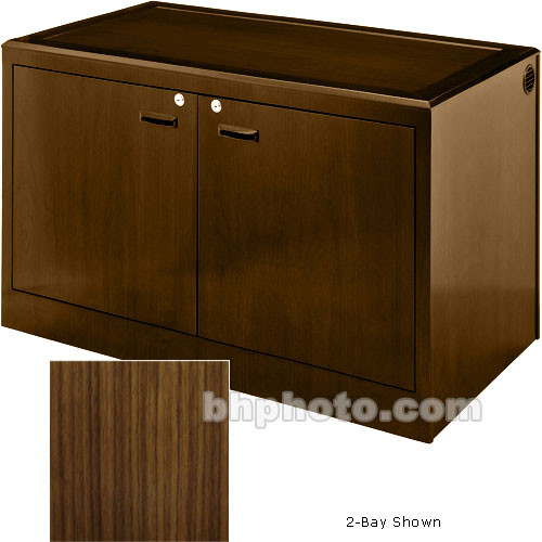 Sound-Craft Systems 4-Bay Equipment Credenza - Veneer/Walnut