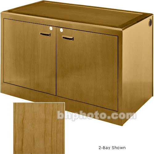 Sound-Craft Systems 4-Bay Equipment Credenza - Veneer/Natural Cherry