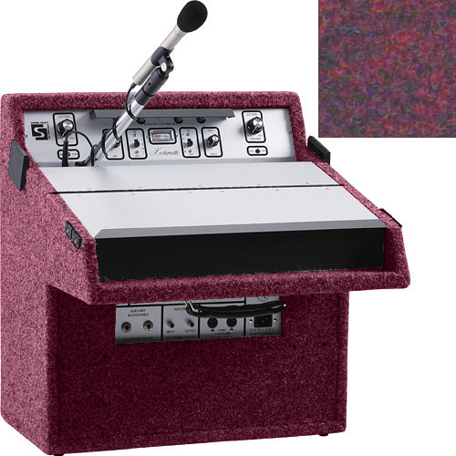 Sound-Craft Systems L46C All-Purpose Lecternette - Portable Public Address and Lectern System with 14 Watt Amplifier, Microphone, Speakers and Reading Light (Brick)
