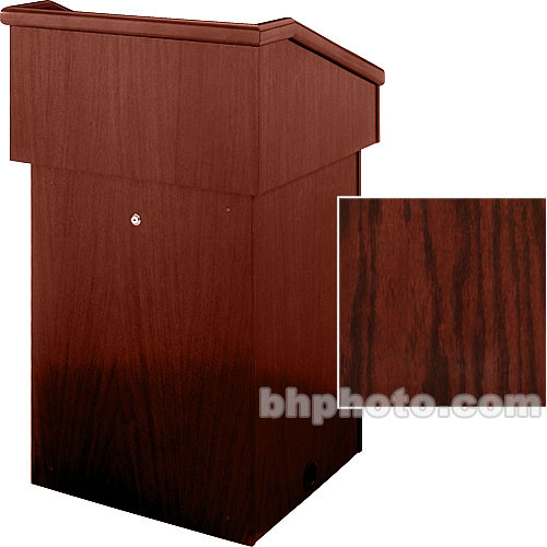 Sound-Craft Systems Floor Lectern (Dark Cherry Stained Oak)