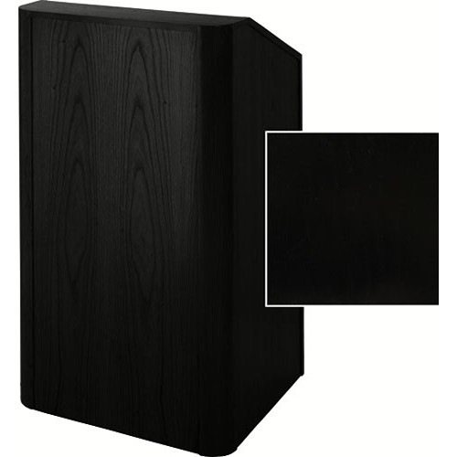 Sound-Craft Systems Floor Lectern Rounded Corners (Black Oak)
