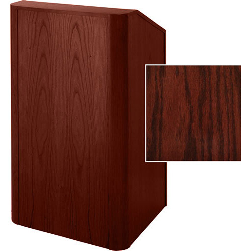 Sound-Craft Systems Floor Lectern Rounded Corners (Dark Cherry Stained Oak)
