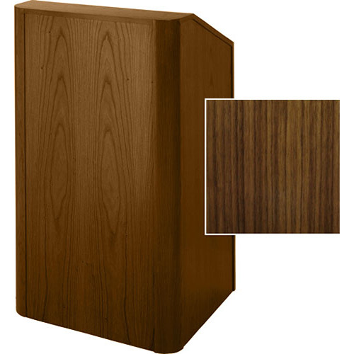 Sound-Craft Systems Floor Lectern Rounded Corners (Walnut)