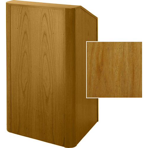 Sound-Craft Systems Floor Lectern Rounded Corners (Natural Mahogany)