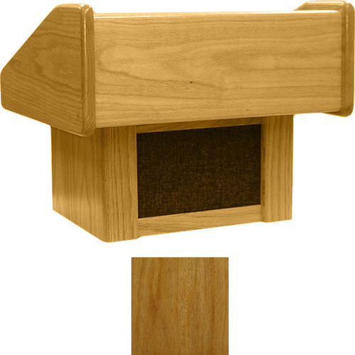 Sound-Craft Systems TC Lectern Two Series Table Lectern - Natural Mahogany