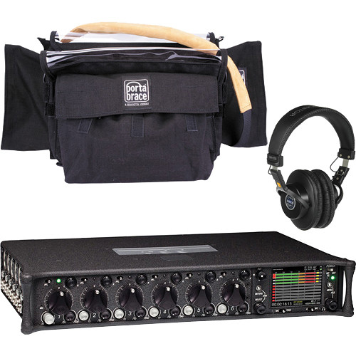 Sound Devices 664 Six-Channel Portable Production Mixer and Porta Brace Case Kit
