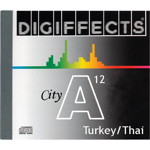 Sound Ideas Sample CD: Digiffects City SFX - Various Locations in Turkey, Thailand, Indonesia & Bali (Disc A12)