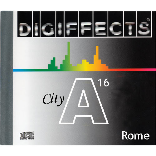 Sound Ideas Sample CD: Digiffects City SFX - Rome (Disc A16)