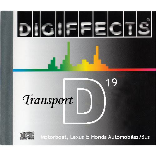 Sound Ideas Sample CD: Digiffects Transport SFX - Motorboat, Lexus & Honda Automobiles, Bus (Disc D19)